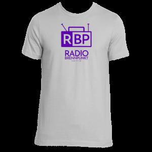 Radio Brennpunkt tshirt in purple and gray